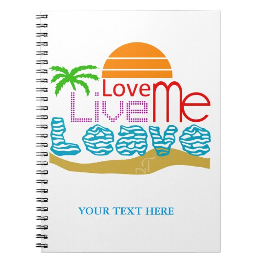Carnet Notebook Valentine - Sea, sun, beach
