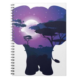 Carnet Nuit africaine avec l'éléphant 3