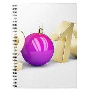 Carnet Numéro 2018 avec la boule de Noël