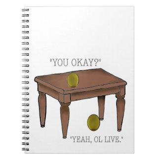 Carnet olive de plaisanterie