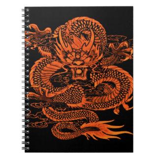 Carnet Orange épique de dragon