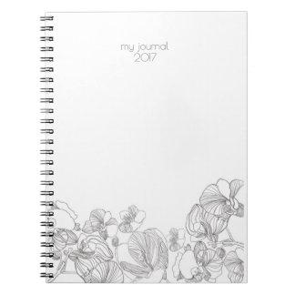 Carnet ou journal floral simple