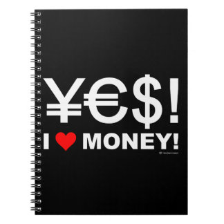 Carnet Oui ! J'aime l'argent !