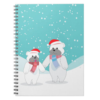 Carnet ours blanc B