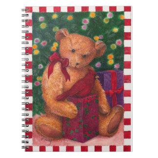 Carnet Ours illustré de Noël avec le cardinal