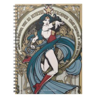 Carnet Panneau de Nouveau d'art de femme de merveille