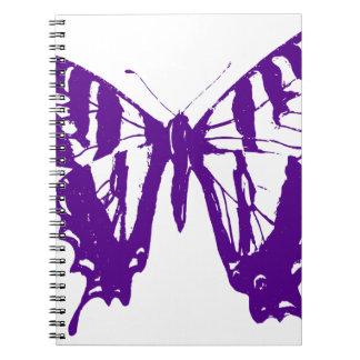 Carnet Papillon pourpre