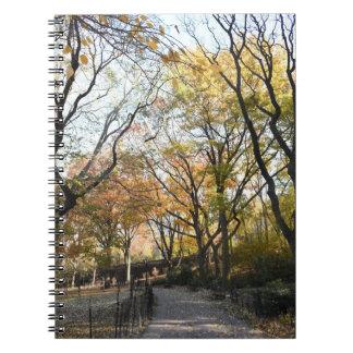 Carnet Parc New York City NYC de rive de feuille