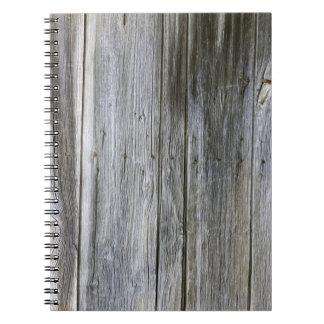 Carnet patiné de photo de planches de porte