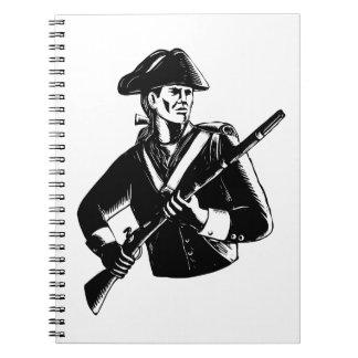 Carnet Patriote américain Scratchboard