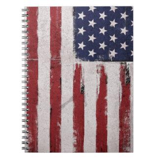 Carnet Patriote de cru de drapeau américain
