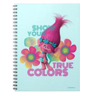 Carnet Pavot des trolls   - montrez vos couleurs vraies
