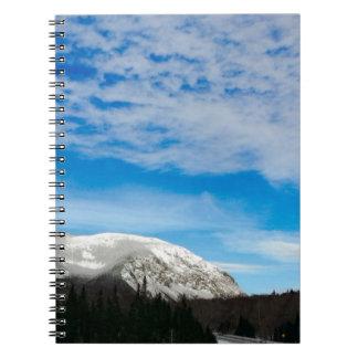 Carnet Paysage blanc de ciel bleu de montagne