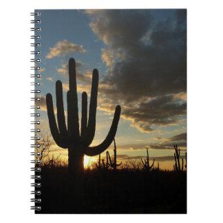 Carnet Paysage de désert du coucher du soleil II Arizona