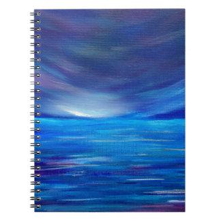 Carnet Paysage marin abstrait de bleu et de pourpre