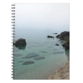 Carnet Paysage marin calme d'océan, photo de l'eau de zen