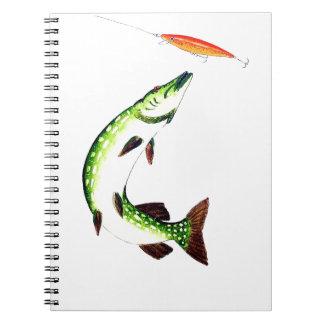 Carnet Pêche de Pike et pêche de mouche