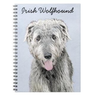 Carnet Peinture de chien-loup irlandais - art original