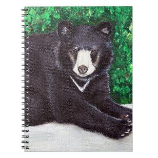 Carnet Peinture d'ours noir