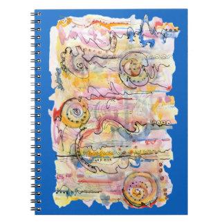 Carnet Peinture pour aquarelle abstraite colorée