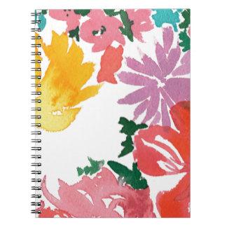 Carnet personnalisable floral d'aquarelle