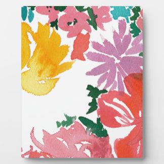 Carnet personnalisable floral d'aquarelle plaque photo