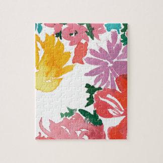 Carnet personnalisable floral d'aquarelle puzzle