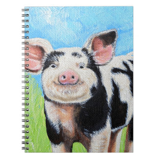 Carnet Petite peinture heureuse de porc