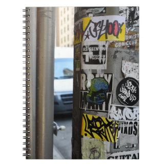 Carnet Photographie urbaine graveleuse d'art de rue de