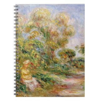 Carnet Pierre une femme de Renoir | dans un paysage