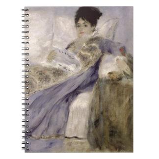 Carnet Pierre une Madame Monet de Renoir | sur un sofa