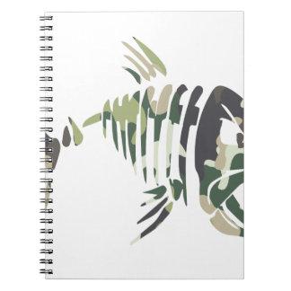 Carnet Poissons fâchés de camouflage, pour le pêcheur