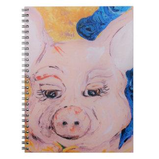 Carnet Porc de ruban bleu