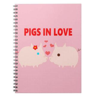 Carnet porcs dans l'amour