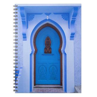 Carnet Porte marocaine bleue