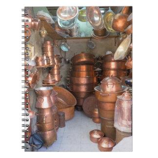 Carnet Pots de cuivre au marché