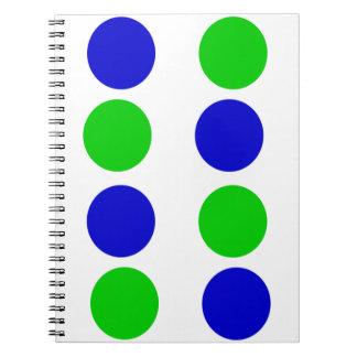 Carnet Pourpre rouge de vert bleu de conception de cercle
