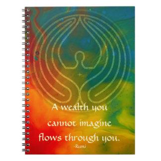 Carnet Prière Rumi et art poétique