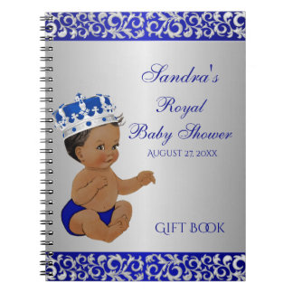 Carnet Prince Blue Silver Gift Guest d'Afro-américain