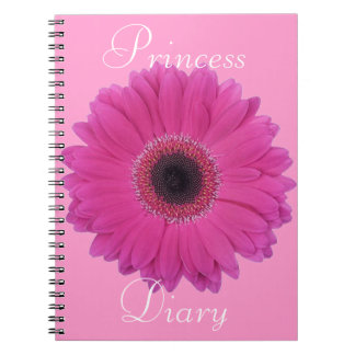 Carnet Princesse Diary Notebook de fleur de Fuschia