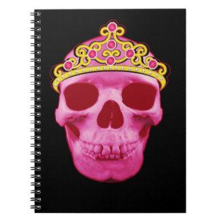 Carnet Princesse rose Skull
