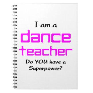 Carnet professeur de danse