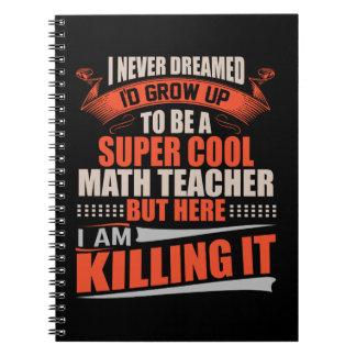 Carnet Professeur de maths frais superbe