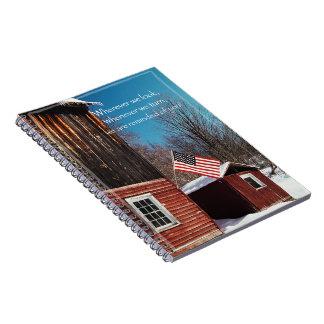 Carnet Rappels patriotiques de drapeau de grange tout