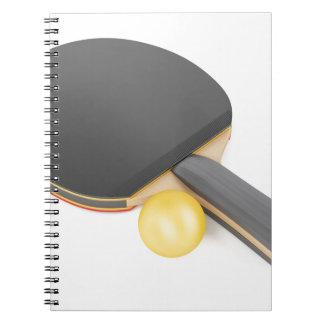 Carnet Raquette et boule de ping-pong