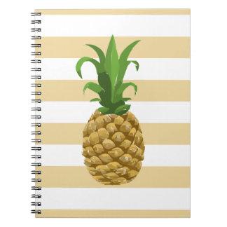Carnet rayé d'ananas