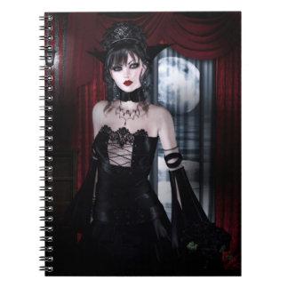 Carnet Reine pour l'art gothique de filles de vampire