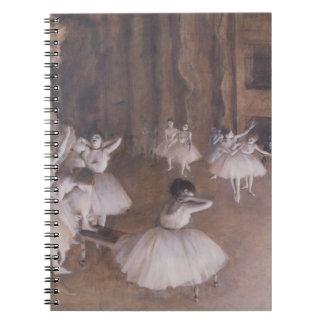 Carnet Répétition de ballet d'Edgar Degas   sur l'étape,