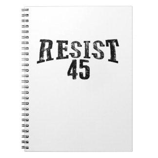 Carnet Résistez à la protestation de 45 atouts
