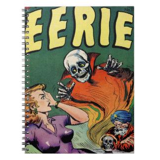 Carnet Rétro alerte mystérieuse de bande dessinée